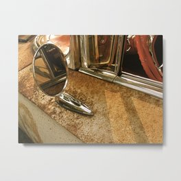 Rust and Chrome Metal Print