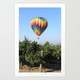 Floating in Wine Country Art Print