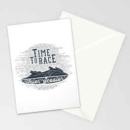 Time To Race. Water Scooter Stationery Cards