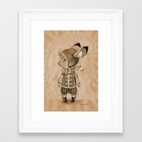 mouse Framed Art Prints featuring Mouse by Freeminds