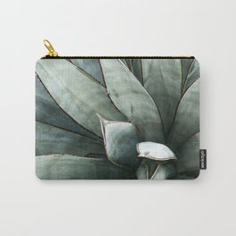 Botanical Succulents // Dusty Blue Green Desert Cactus High Quality Photograph Carry-All Pouch