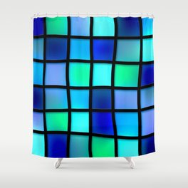Colored Pattern Shower Curtain