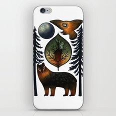 The Bear and the Barn Owl iPhone & iPod Skin