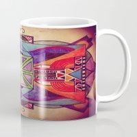 mandala Mugs featuring Mandala by Aaron Carberry
