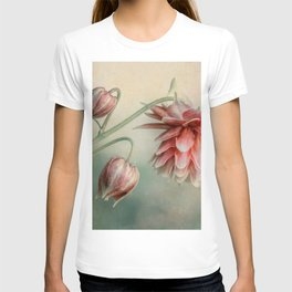 Delicate red columbine flower T-shirt