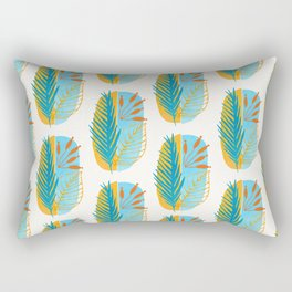 Beach Flora Abstract Rectangular Pillow