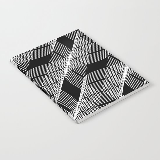 Black White Helix Notebook