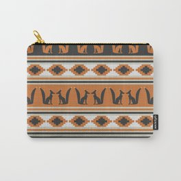 Foxes and ethnic shapes Carry-All Pouch