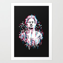 Antique Glitch Art Print