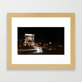 Széchenyi Chain Bridge, Budapest Framed Art Print