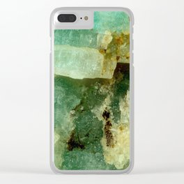 ELEGANT AMAZONITE ABSTRACT PATTERN Clear iPhone Case