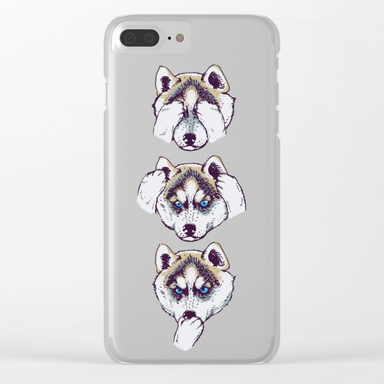 No Evil Husky Clear iPhone Case