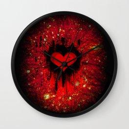 My beaten heart Wall Clock