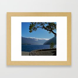 Cold Blue Waters Framed Art Print