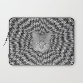 Dizzy Cat Abstract in Monochrome Laptop Sleeve