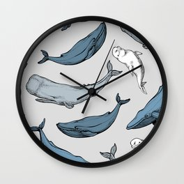 Whales are everywhere Wall Clock