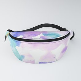 Dye Ovals Pink Turquoise Fanny Pack
