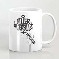 writer Mugs featuring Writer by The Killer Gerbil