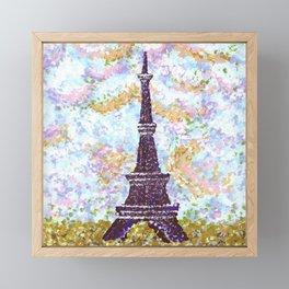 Eiffel Tower Pointillism by Kristie Hubler Framed Mini Art Print