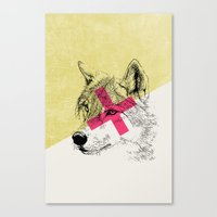 techno Canvas Prints featuring Techno Wolf by Zeke Tucker