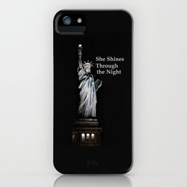 She Shines Through the Night 2 iPhone Case