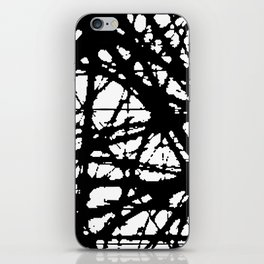 tension, black and white iPhone Skin