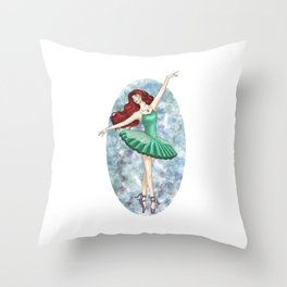 Ariel - Ballerina Throw Pillow