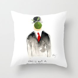 this is not a magritte Throw Pillow