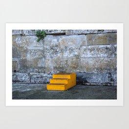 Yellow Steps Art Print