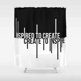 Create to Inspire Shower Curtain