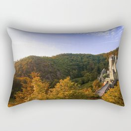 Castle in the woods Rectangular Pillow