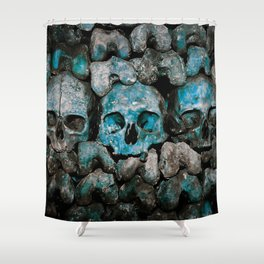 We Three Skulls Shower Curtain