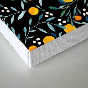 Oranges Black Canvas Print