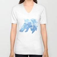 warhammer V-neck T-shirts featuring Wolves on the horizon by HenkusFilijokus