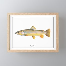 Brown Trout - Polygon Fish Series Framed Mini Art Print