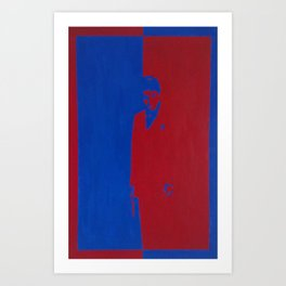 Scarface : Red & Blue Art Print