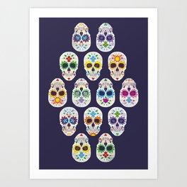 Dia de los muertos Art Print