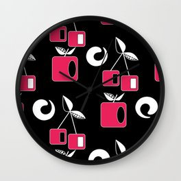 Geometric pattern . Fruit 2 Wall Clock