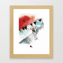 Climbing Supper Star Framed Art Print