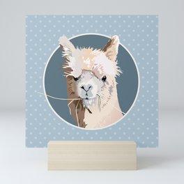Llama Llove Mini Art Print