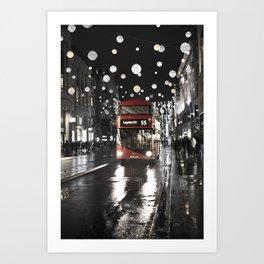 London Oxford Street Art Print
