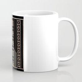 Vintage Black and Tan Pattern Coffee Mug