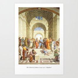 The School of Athens - Raphael Art Print