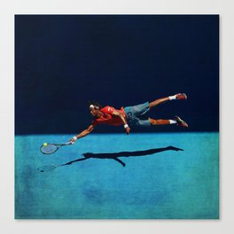 "Gaël ""Superman"" Monfils flying forehand Canvas Print"