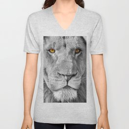 Lion Male Portrait CK Unisex V-Neck
