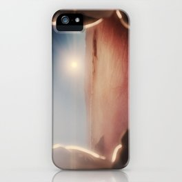 SpaceX Mission to Mars Martian Astronaut on Martian Landscape iPhone Case