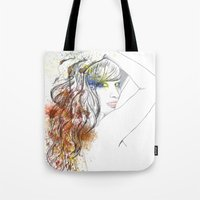 rogue Tote Bags featuring Rogue by Mariano Daniel