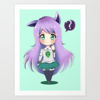 chibi Art Prints featuring Chibi by Alice