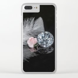 """""""Reflections"""" - Diamonds, Feathers & Flowers Clear iPhone Case"""