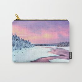 Magenta Ice Covered Stream By Wooside Carry-All Pouch